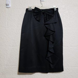 Vintage JH Collectibles Black Bow Ruffle Skirt 10